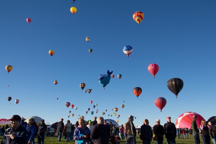 Hooray for Rain - Albuquerque Hot Air Balloon Fiesta