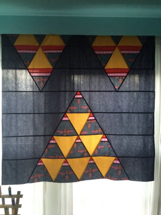 Towering Triangles Quilt - Hooray for Rain