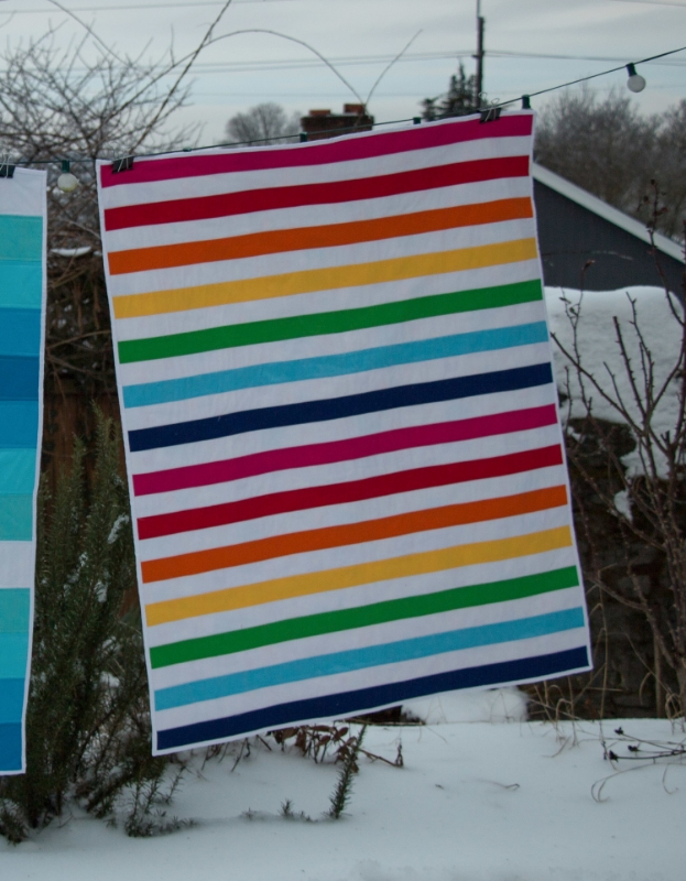 Stripey Twin Quilts - Hooray for Rain
