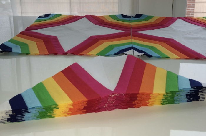 Rainbow Spiderweb Quilt - Hooray for Rain