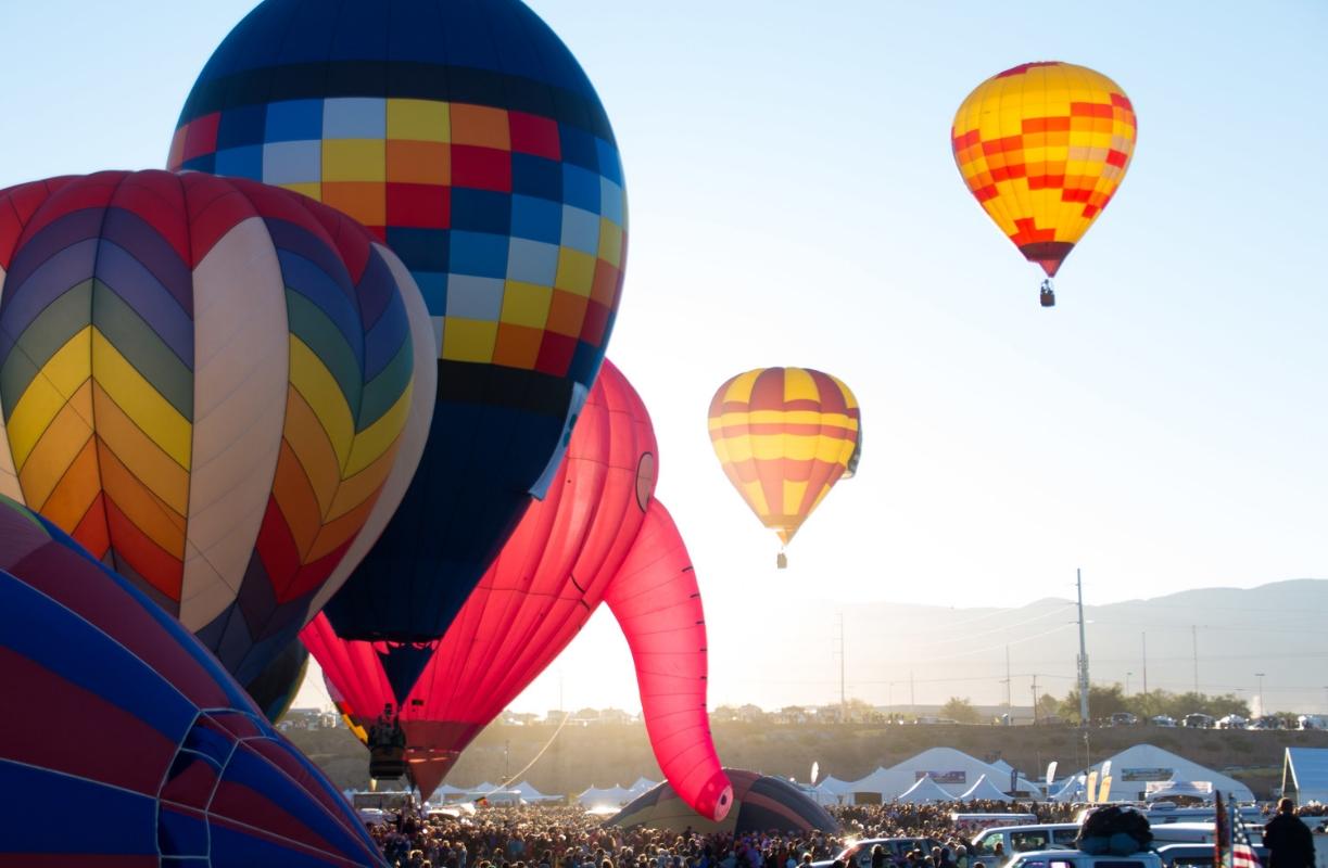 Albuquerque Hot Air Balloon Fiesta - www.hoorayforrain.com