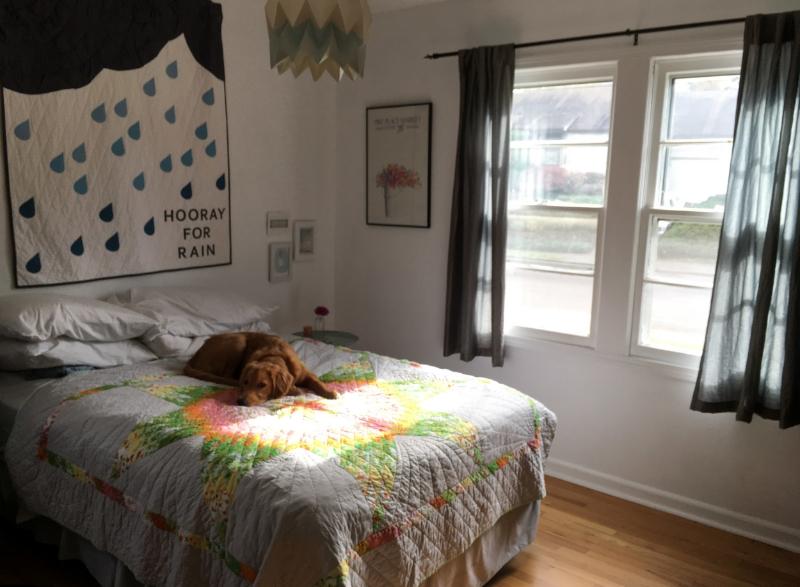 www.hoorayforrain.com - Guest Room Mini Makeover