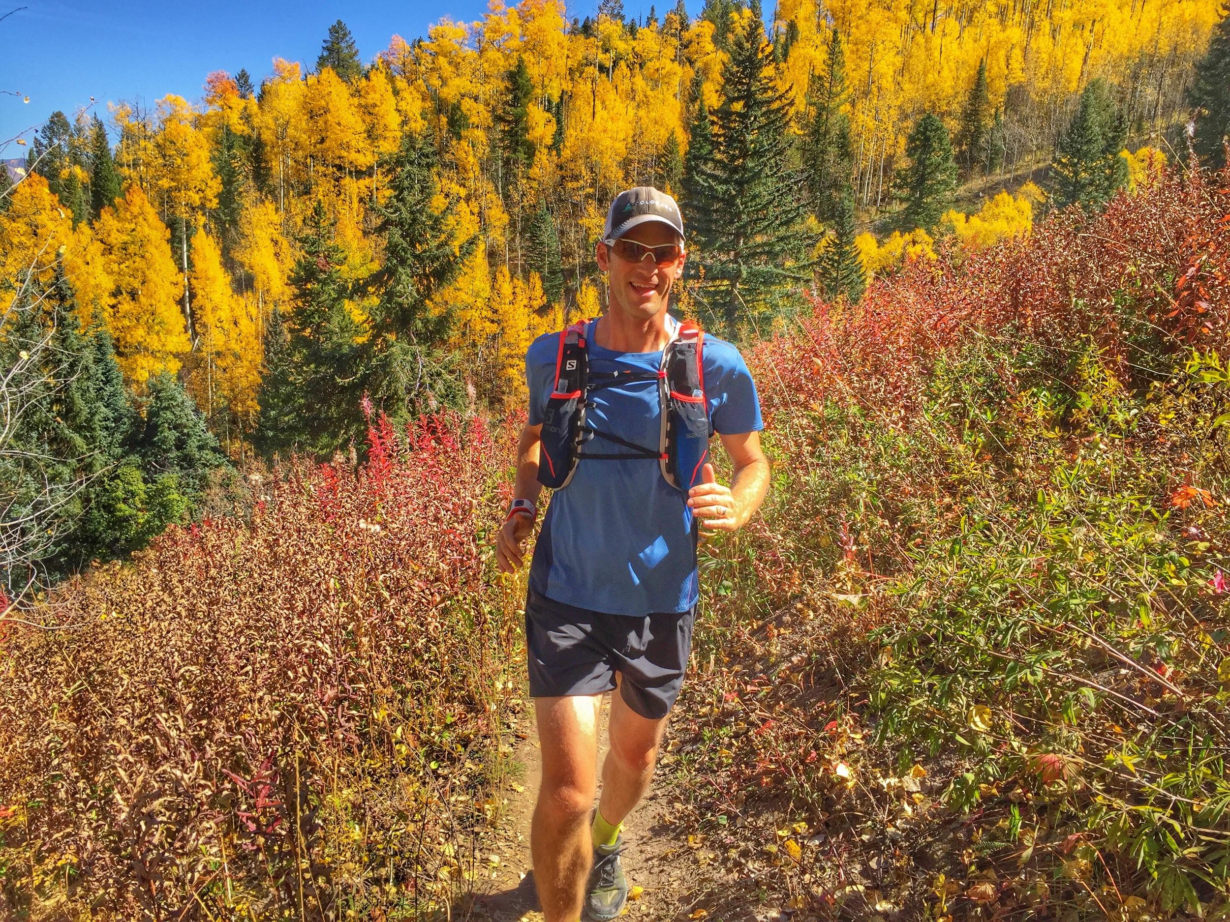 Golden Leaf Half Marathon Trail between Snowmass and Aspen.
