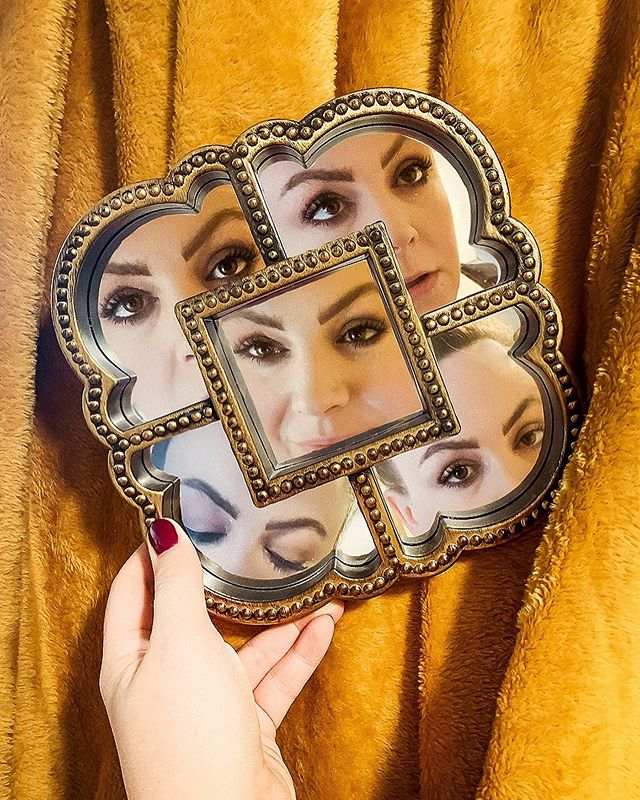 Mirror mirror on the wall... {swipe to see a sample of the photos it took for me to create this! Also, not photobombing your own portrait in a mirror is very challenging.} Shot on an iPhone, edited in Photoshop and Lightroom.