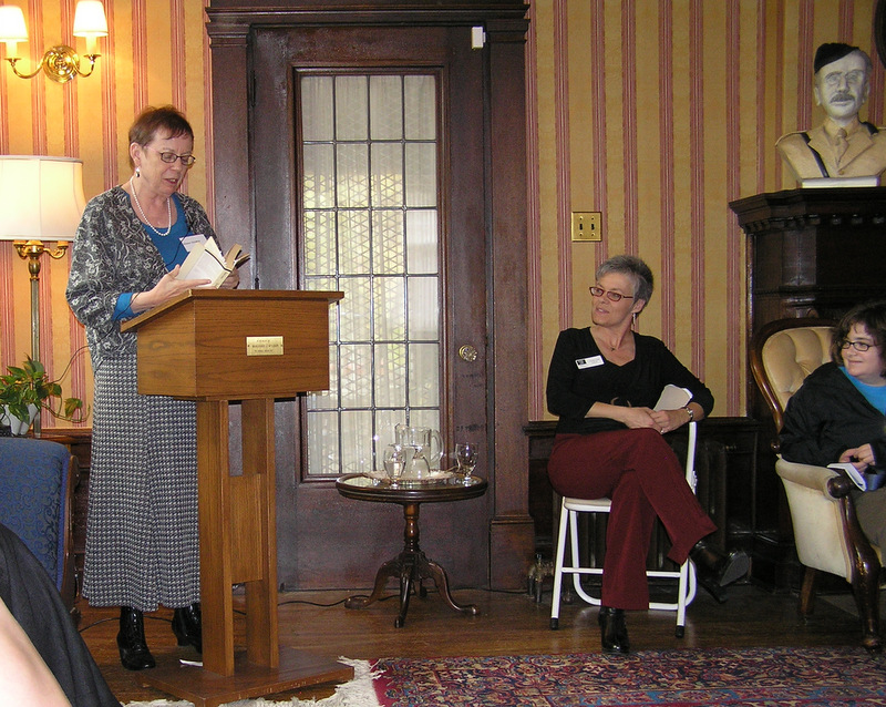 """mystery authorAlison Gordon,granddaughter of """"Ralph Connor"""", reads from his works at  THIN AIR,  2007"""