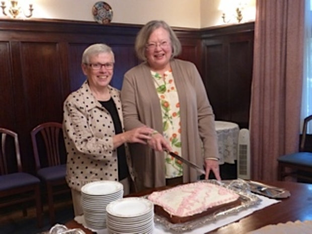 RECEPTION FOR DORIS MAE OULTON, PRESIDENT, CFUW  SEPT. 4, 2014         SEE DORIS MAE'S ARTICLE ON HER OWN PAGE (OCTOBER 2014)