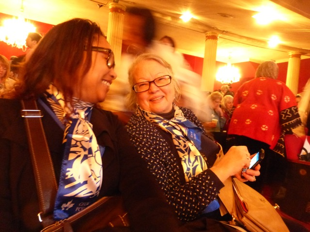 Doris Mae Ouldton CFUW President and CHeryl Hayles Cir rep for cfuw during the delegation to Ny for Status of Women Symposium at UN.jpg