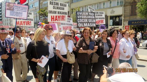 jUNE 30, 2015 MEMBERS OF GWI IN TURKEY TAKING ACTION FOR CHANGE IN WOMEN'S RIGHTS CITED IN THE CIVIL CODE