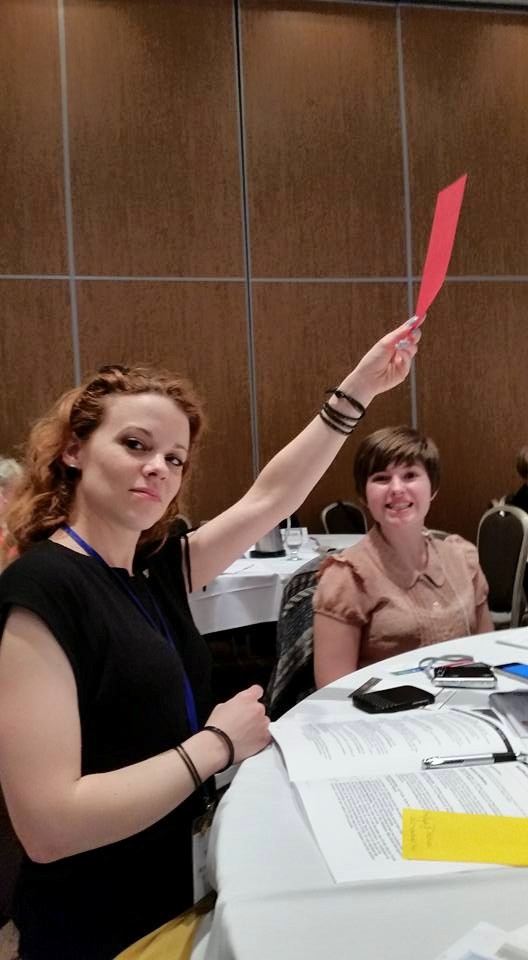 DelegateVoting on Resolutions at the CFUW AGM Quebec City June, 2015