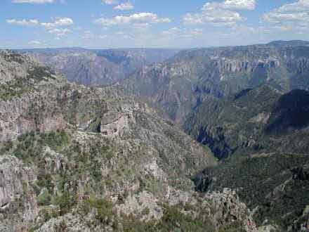 The junction of three major canyons at Divisadero