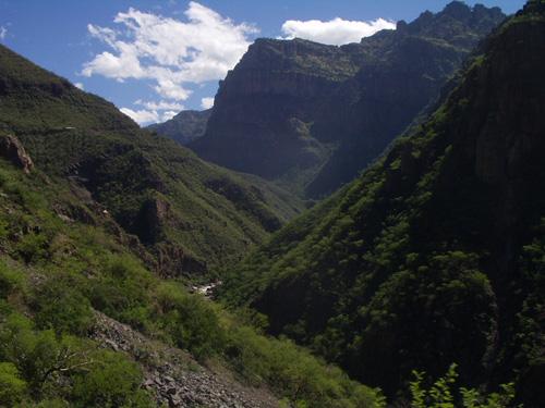 The spectacular descent into the Batopilas Canyon
