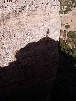 Rock formation in shadow