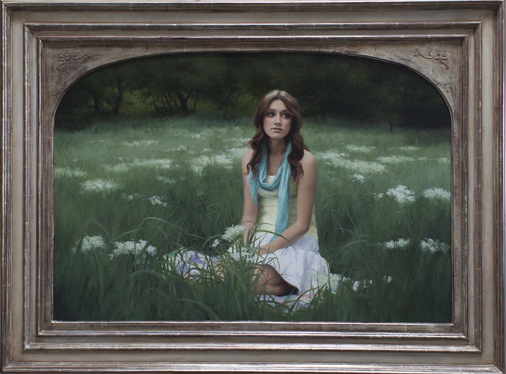 "Title:  Wildflowers     Artist:  Ryan Brown    Medium:  Oil on Linen    Dimensions:  30"" x 44"""