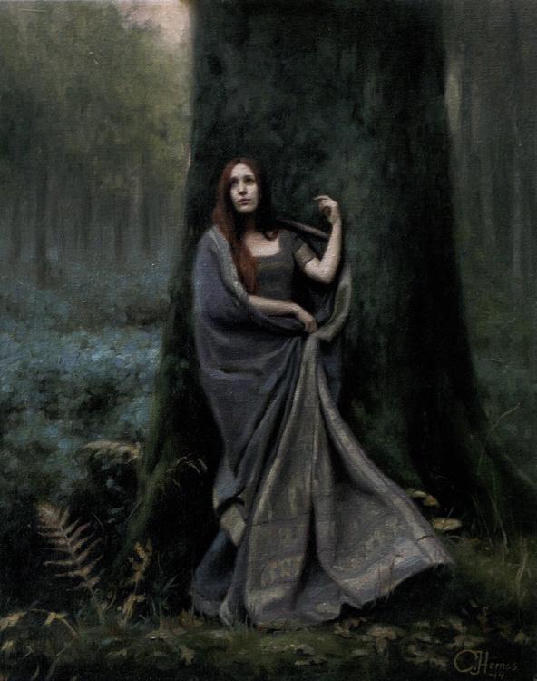 "Title:  Cocoon     Artist:  Cornelia Hernes    Medium:  Oil on Canvas    Dimensions:  15.75"" x 19.7"""