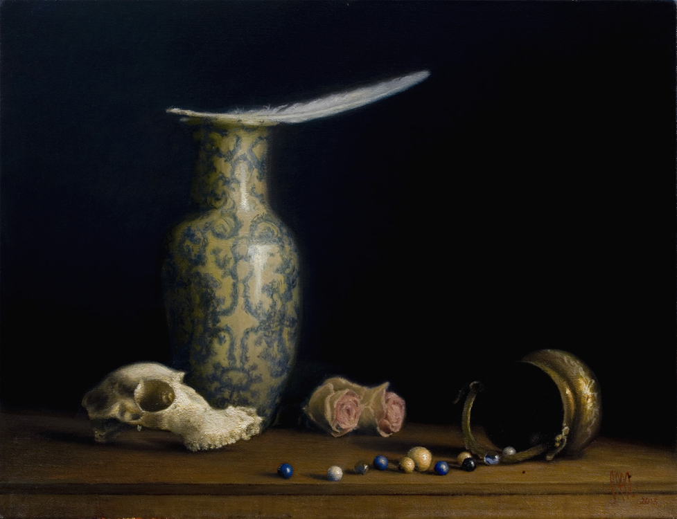 "Title:  Blue Dream     Artist:  Simone Moritz    Medium:  Oil on Canvas    Dimensions:  25.6"" x 19.7"""