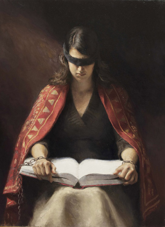 """Title:  Dogma     Artist:  Toby Wright    Medium:  Oil on Canvas    Dimensions:  30"""" x40"""""""