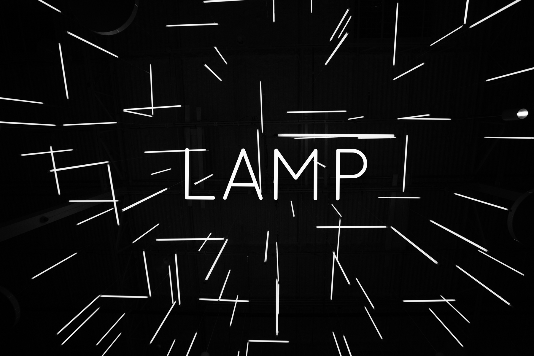 Greene Stage Design - LAMP fluorescent light bulb light installation Greenestagedesign.com at Passion City Church