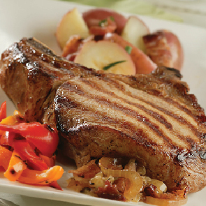 Grilled Stuffed Pork Chop