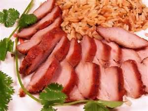 Chinese Pork Roast with Orange Fried Rice