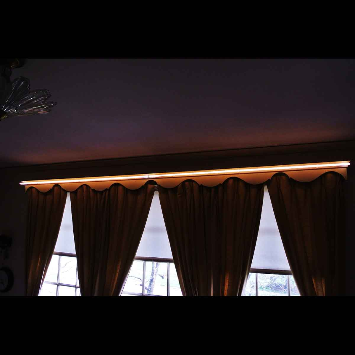 Warm White Luminous Curtain Valance Lighting!