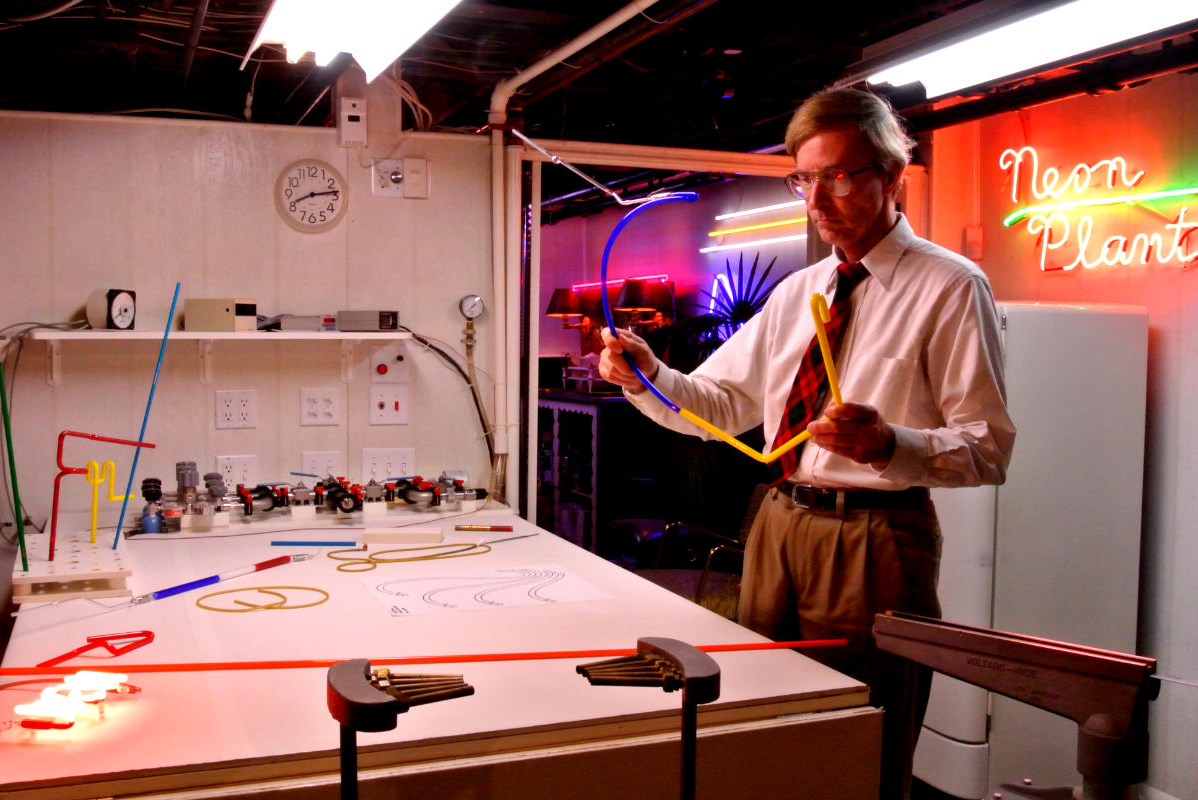 John Barton in his state-of-the-art Neon Studio.
