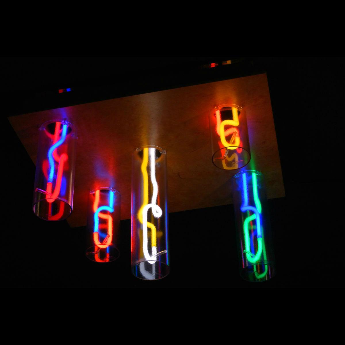 Italian Cave Icicles Neon Chandelier.jpg