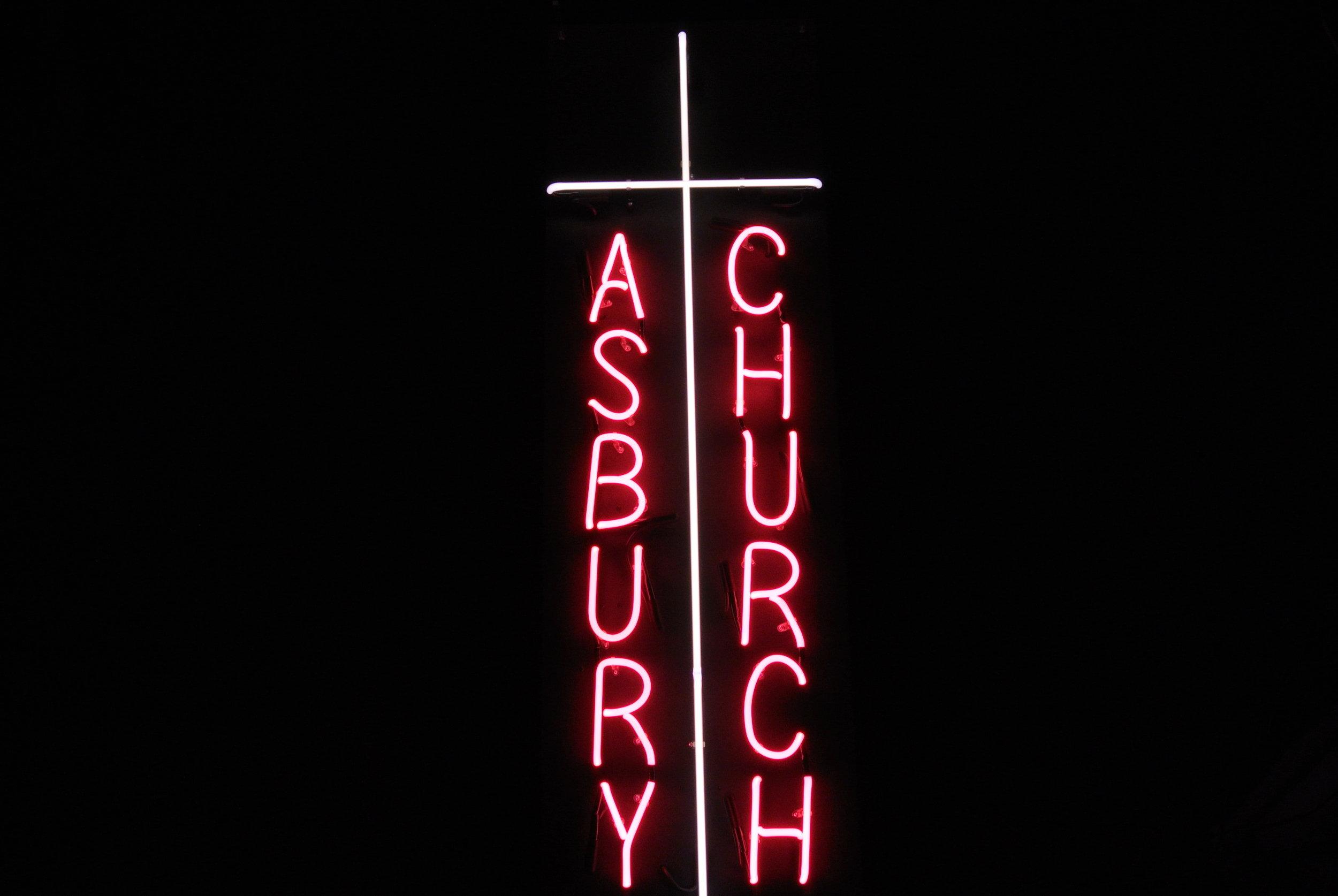 Custom neon church signs by American Neon Glass Artist - John Barton - BartonNeonMagic.com