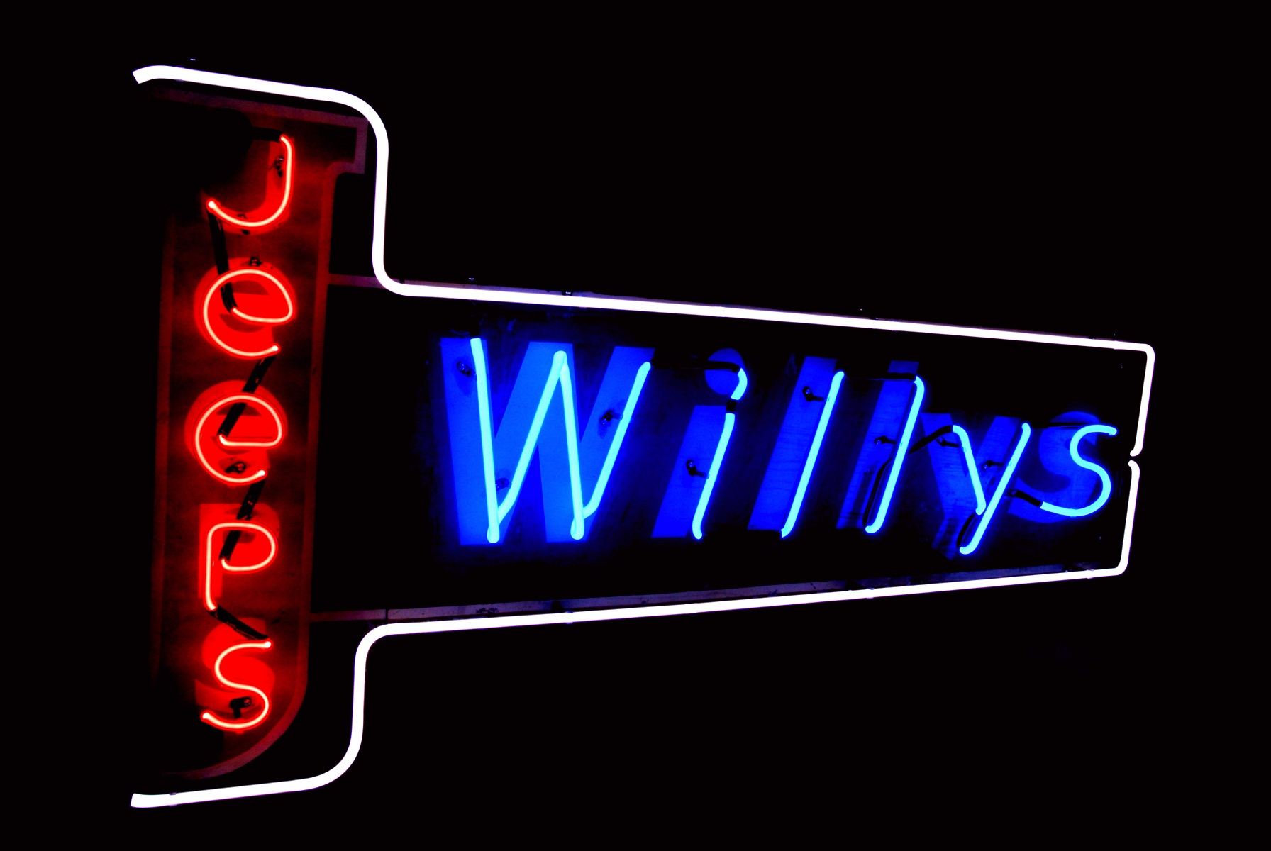 Willys Jeeps Neon Sign Restoration by John Barton