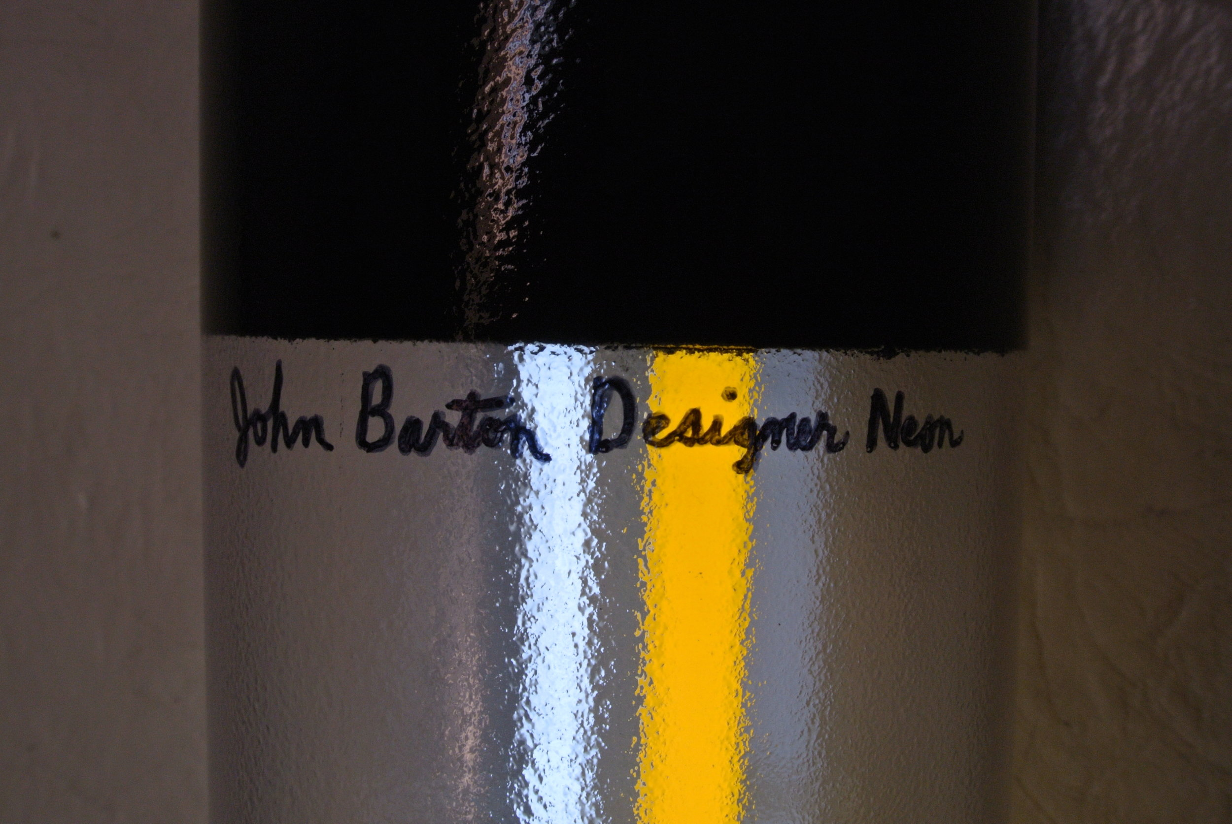 John Barton Designer Murano Italian stained glass neon light cylinders
