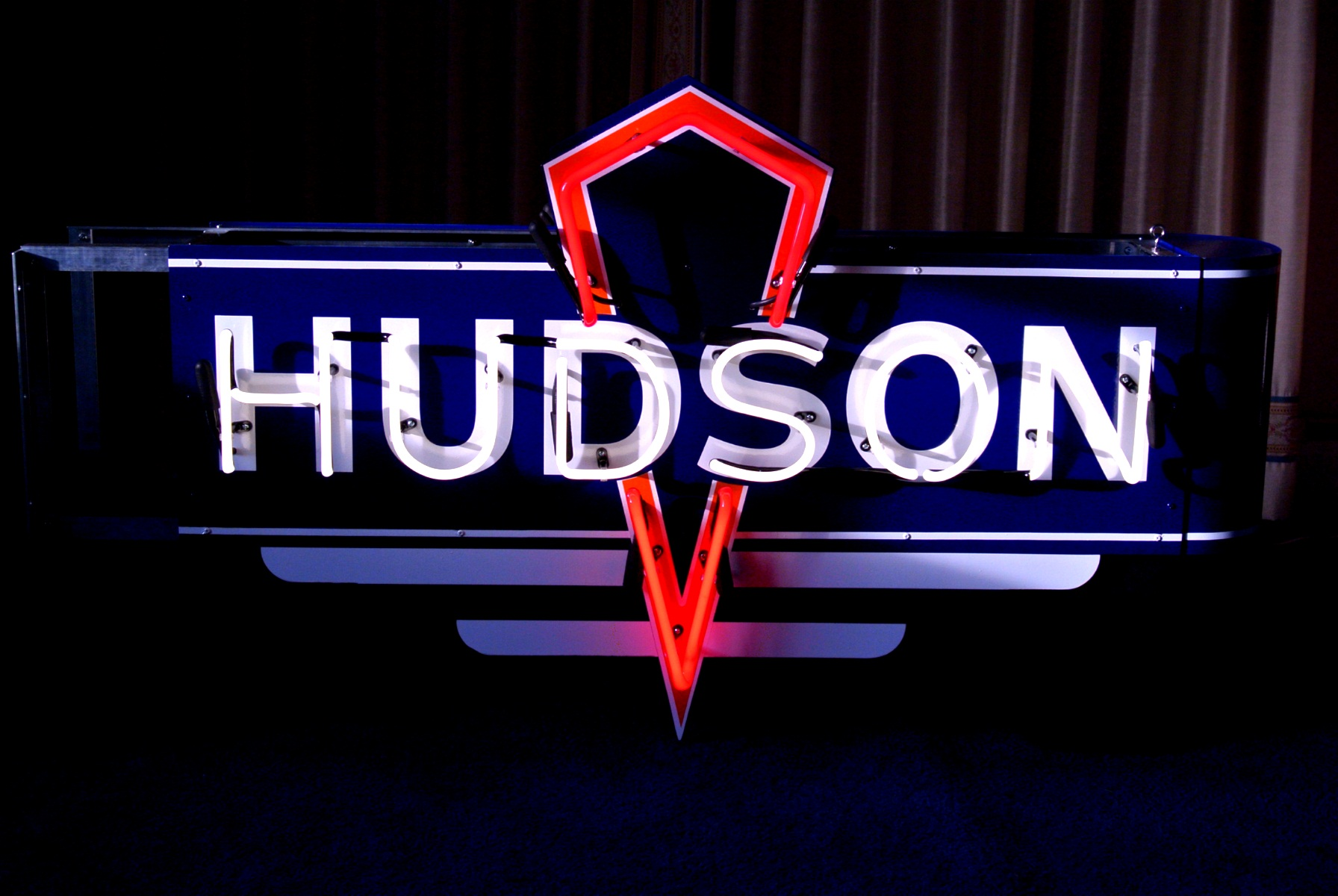 Hudson Neon Dealership Sign - by John Barton - Neon Glass Artist