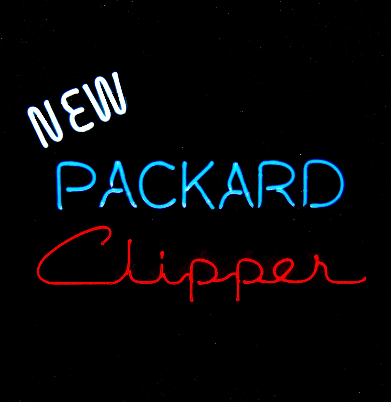 New Packard Clipper - Dealership Showroom Neon Sign by former Packard New Car Dealer