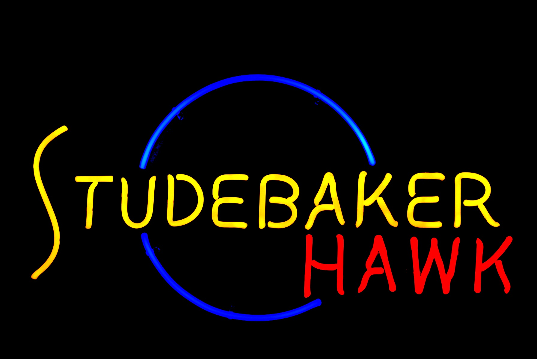 Studebaker Hawk Neon Sign by former New Studebaker Car Dealer - John Barton