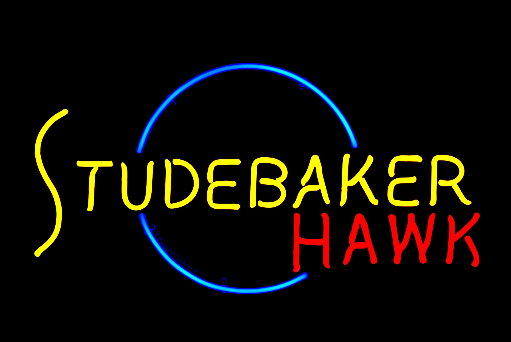 Studebaker Hawk Dealership Showroom Neon Sign by John Barton - former Studebaker Packard New Car Dealer - BartonNeonMagic.com