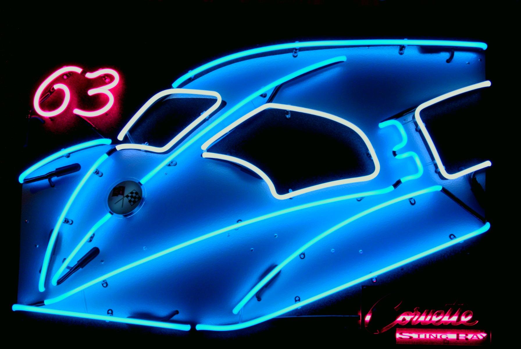 Custom Automotive Neon Art Sculptures by John Barton - Famous USA Neon Glass Artist - BartonNeonMagic.com