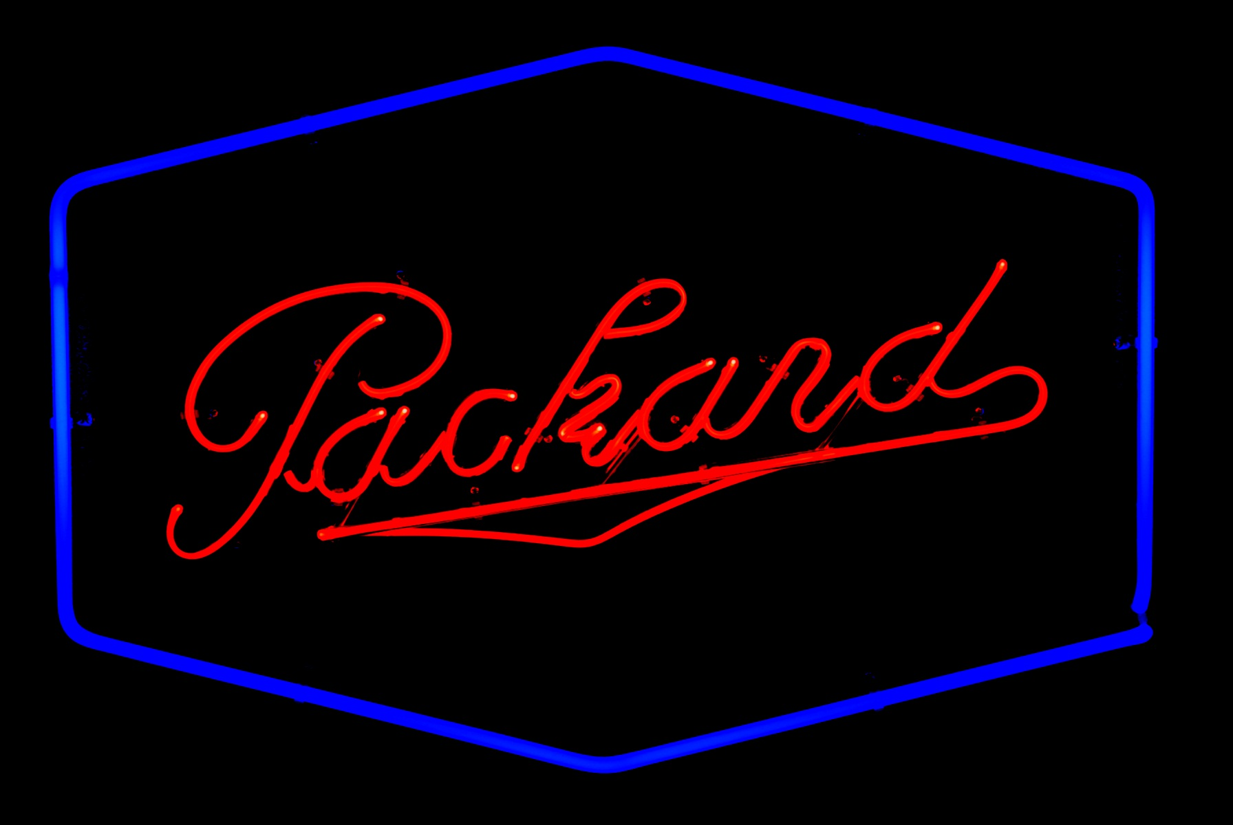 Packard Dealership Neon Signs by John Barton - former Packard New Car Dealer - BartonNeonMagic.com