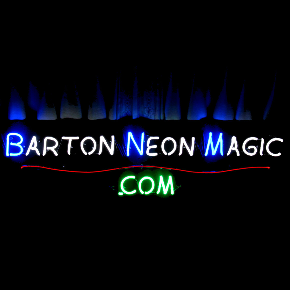 Designer Custom Neon Chandeliers, Sculptures, and Artworks - hand-blown by John Barton - famous USA Neon Glass Artist - BartonNeonMagic.com