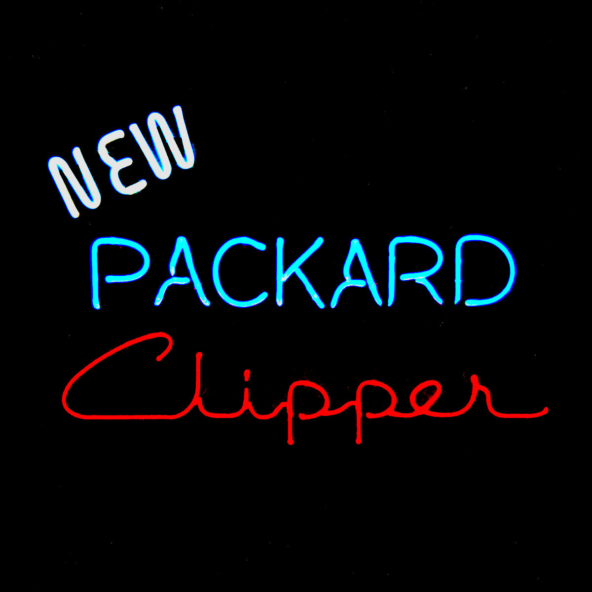 Packard Clipper Dealership Neon Sign by John Barton - former Packard New Car Dealer - BartonNeonMagic.com
