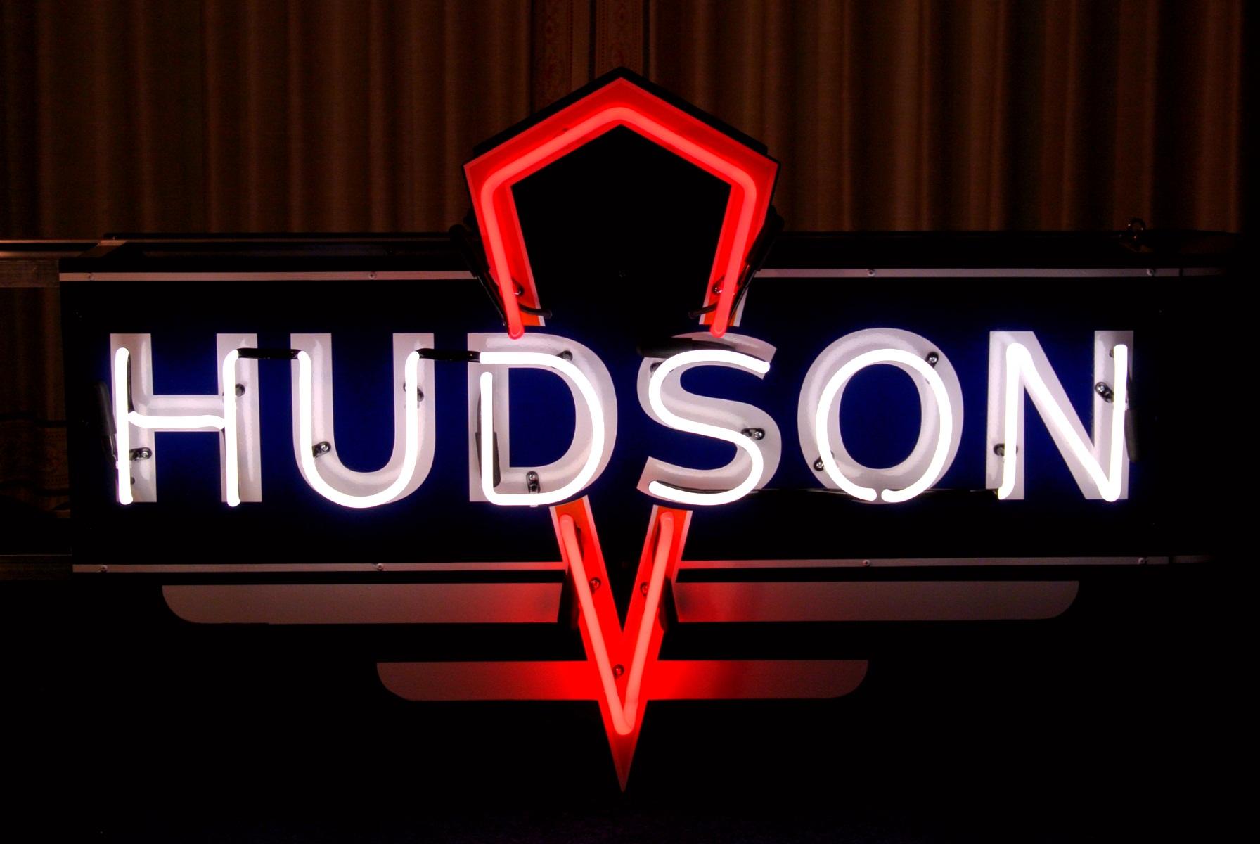 Hudson Car Dealership Neon Signs by John Barton - BartonNeonMagic.com