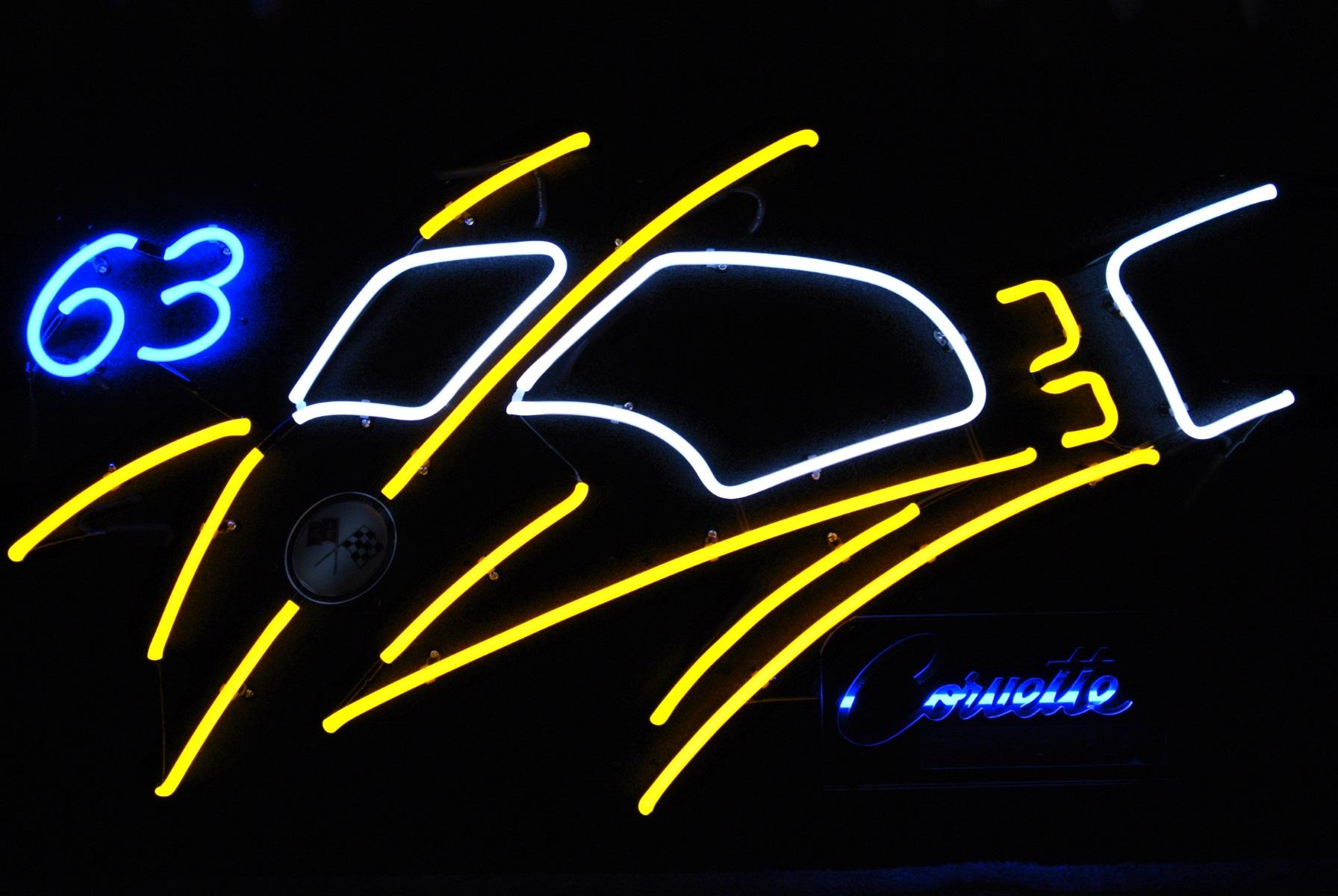 Custom Neon Automotive Sculptures by John Barton - BartonNeonMagic.com