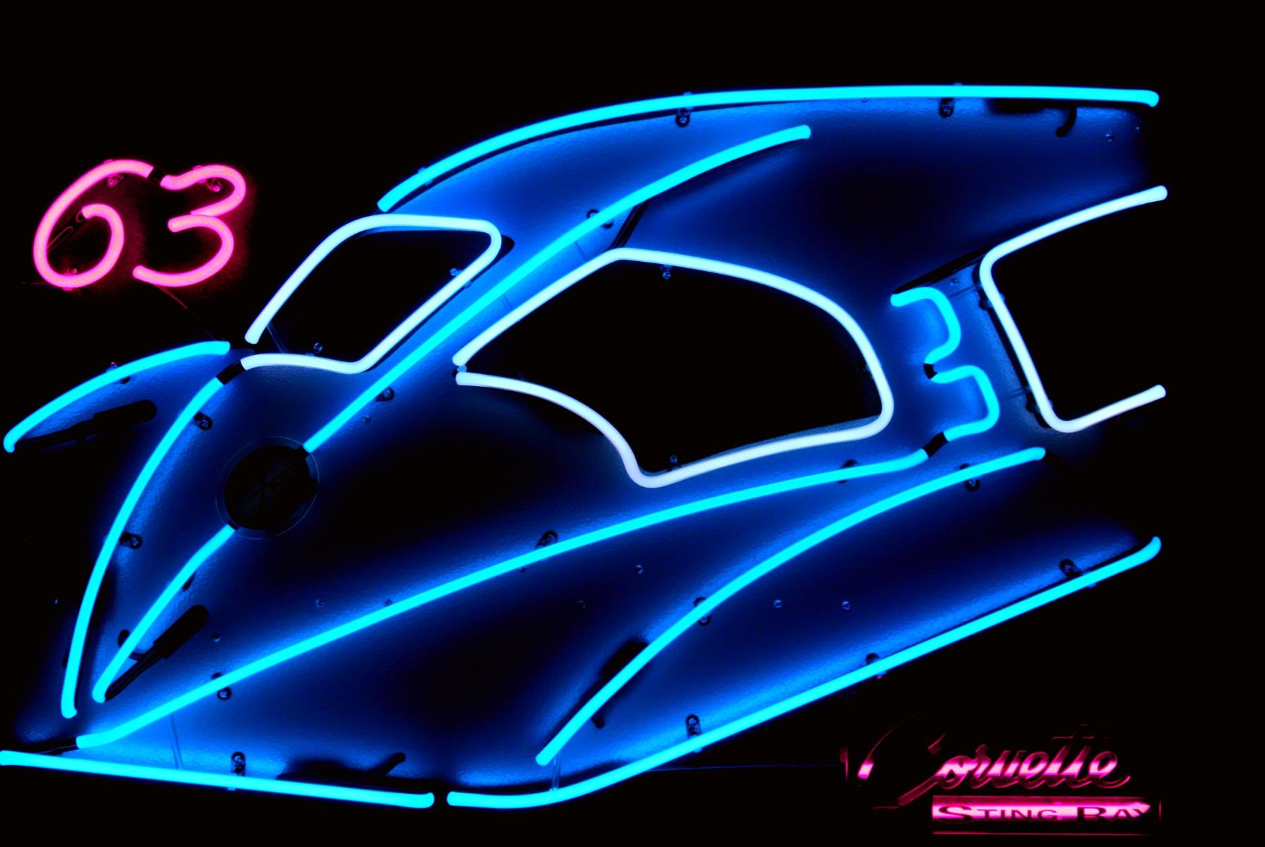 Custom Neon Exotic Car Sculptures by John Barton - BartonNeonMagic.com