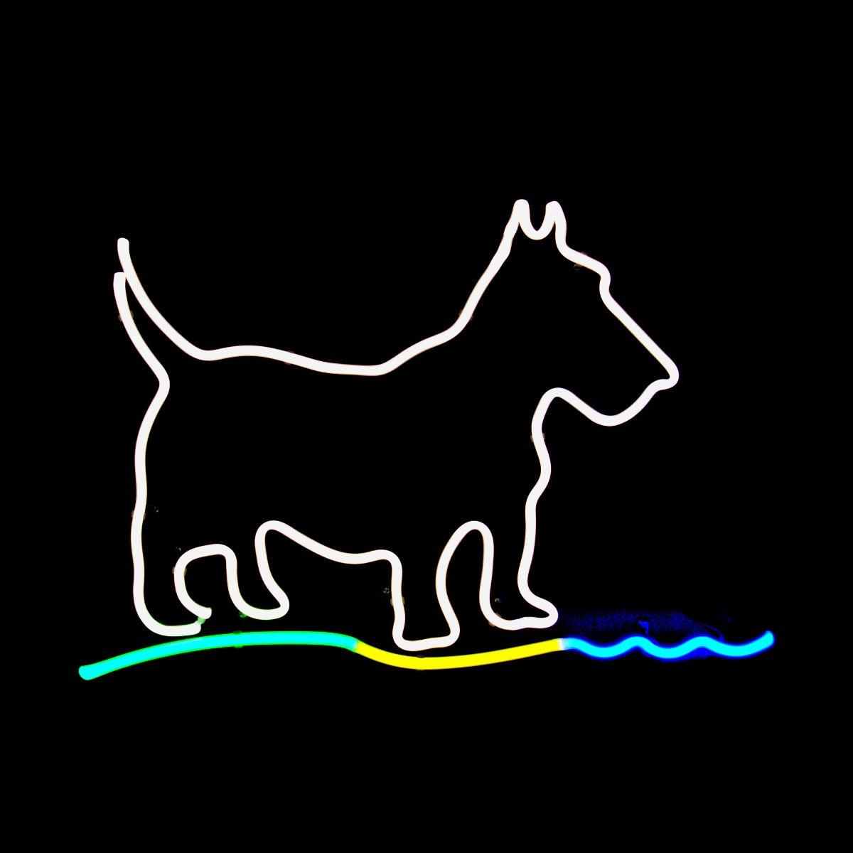 Gallery Display Clearance - Scottie Dog Neon Light Sculpture - John Barton - BartonNeonMagic.com