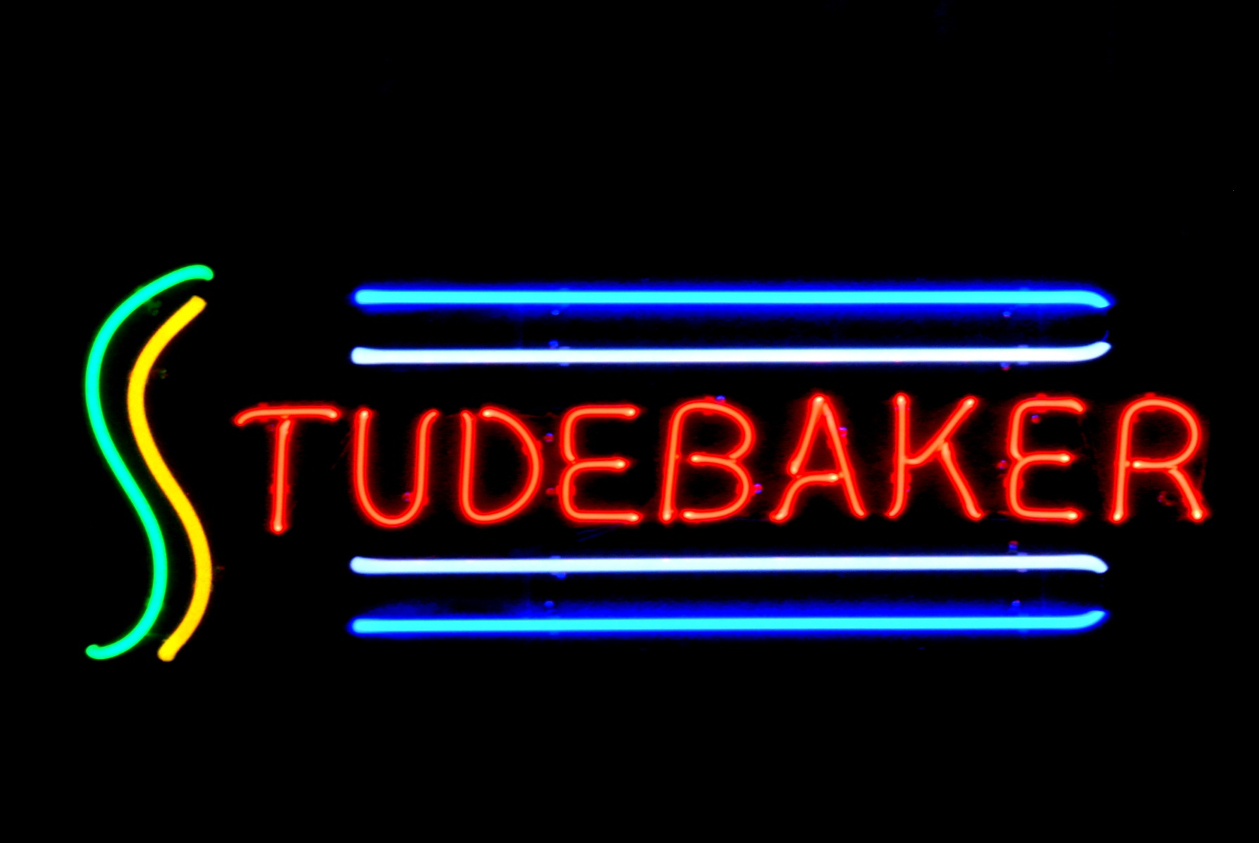 STUDEBAKER Car Dealer custom hand-blown neon signs by John Barton - BartonNeonMagic.com