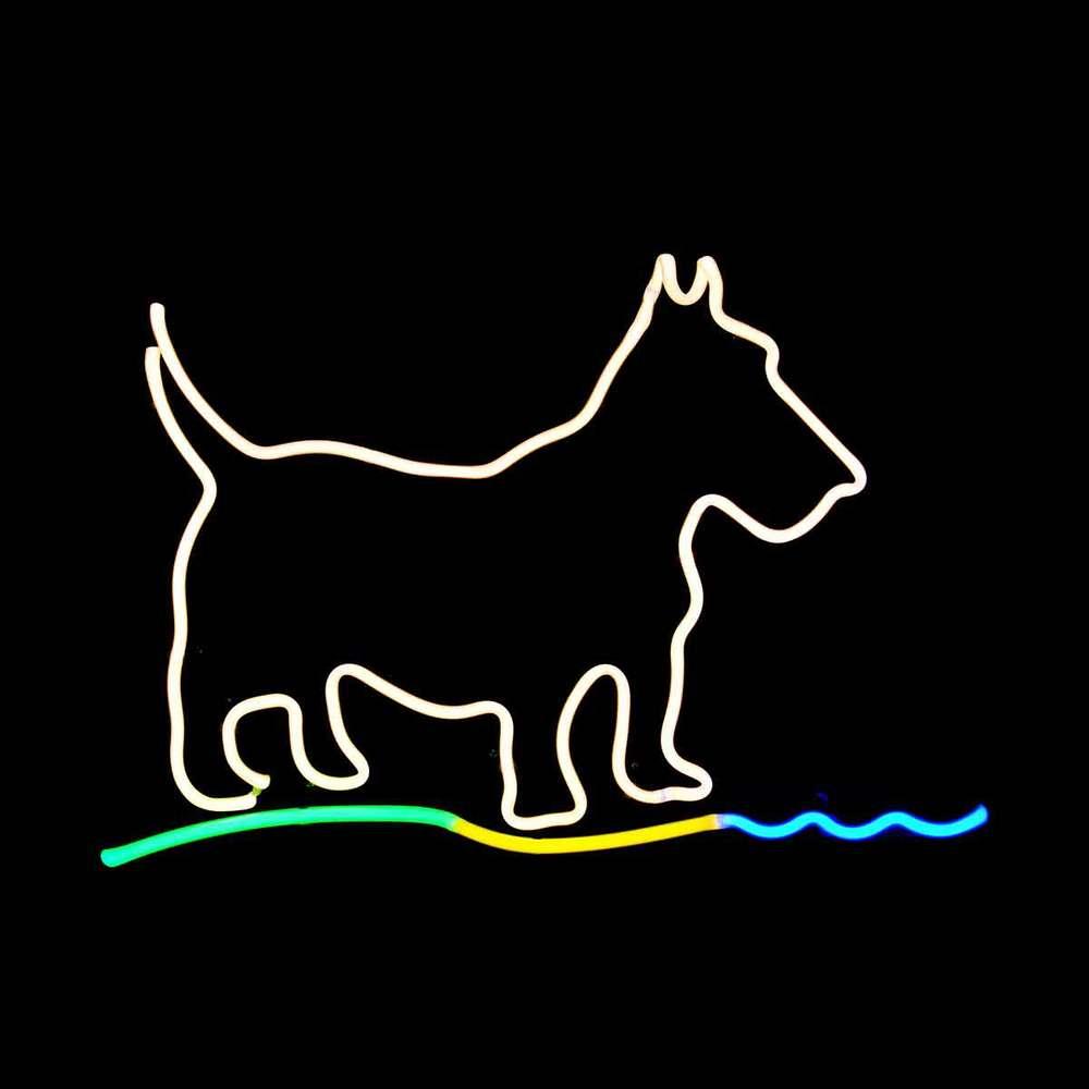 Scottie Dog Neon Light Artwork by John Barton - BartonNeonMagic.com
