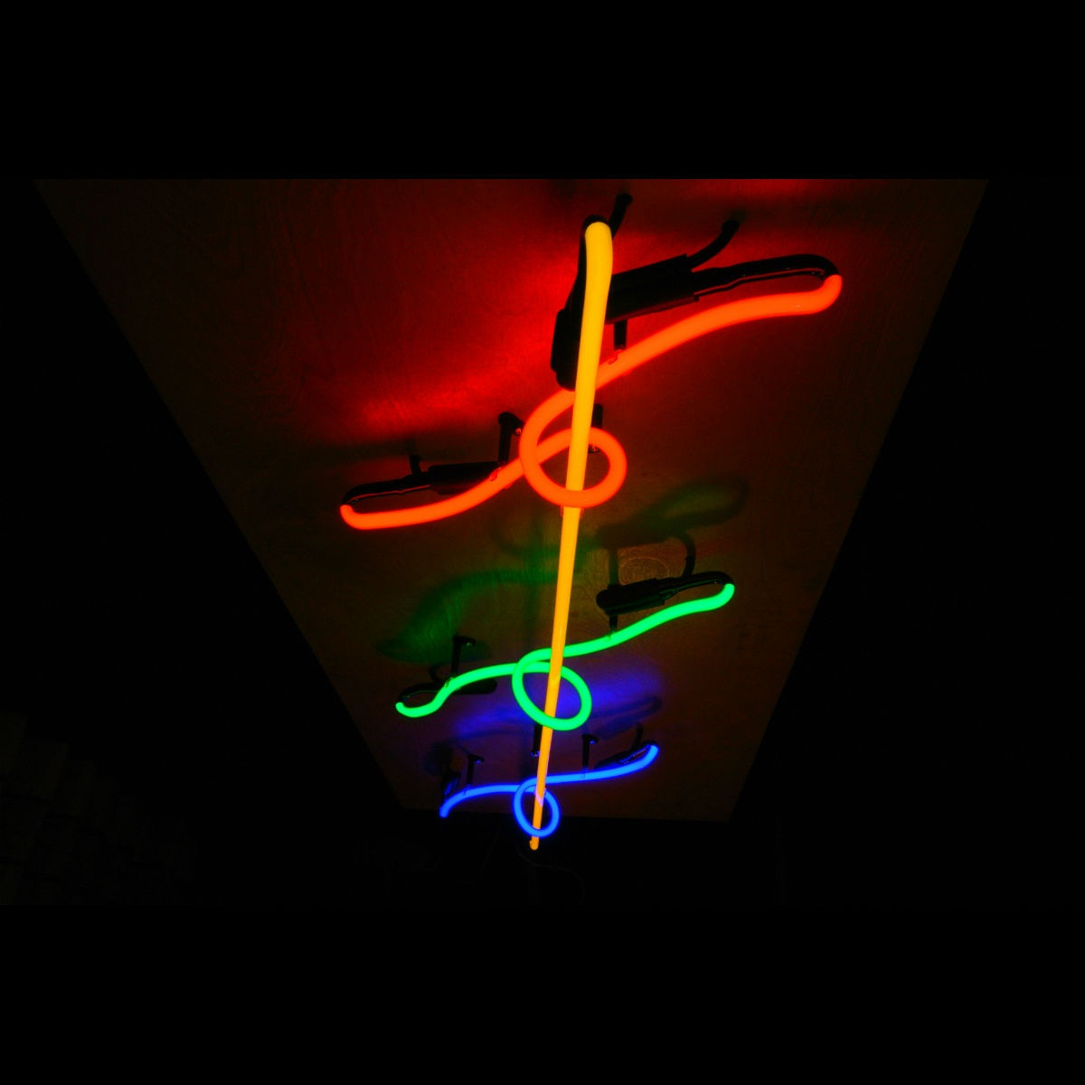 MAGIC SPIRAL Stained Italian Glass Neon Chandelier by John Barton - BartonNeonMagic.com