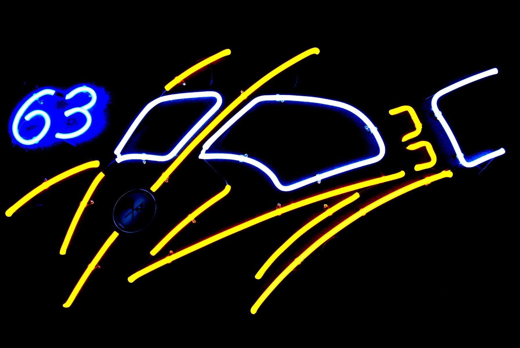 63 Split Window Vette Neon Light Sculpture by John Barton - BartonNeonMagic.com