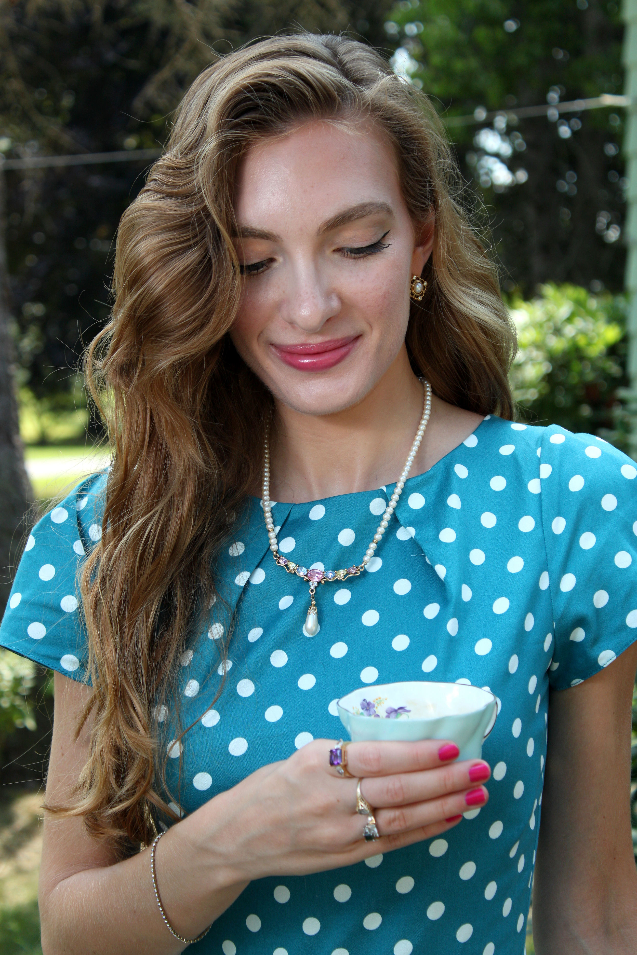 polka dots and jewlery