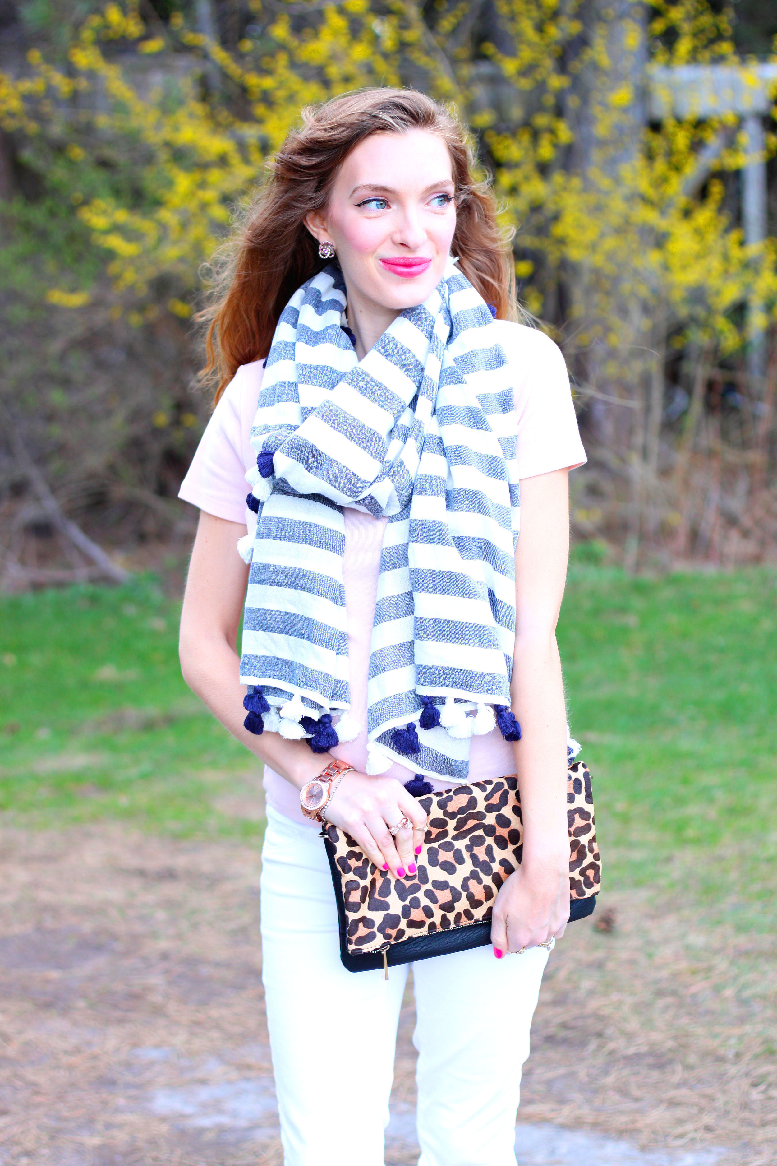 stripes, leopard, and blush