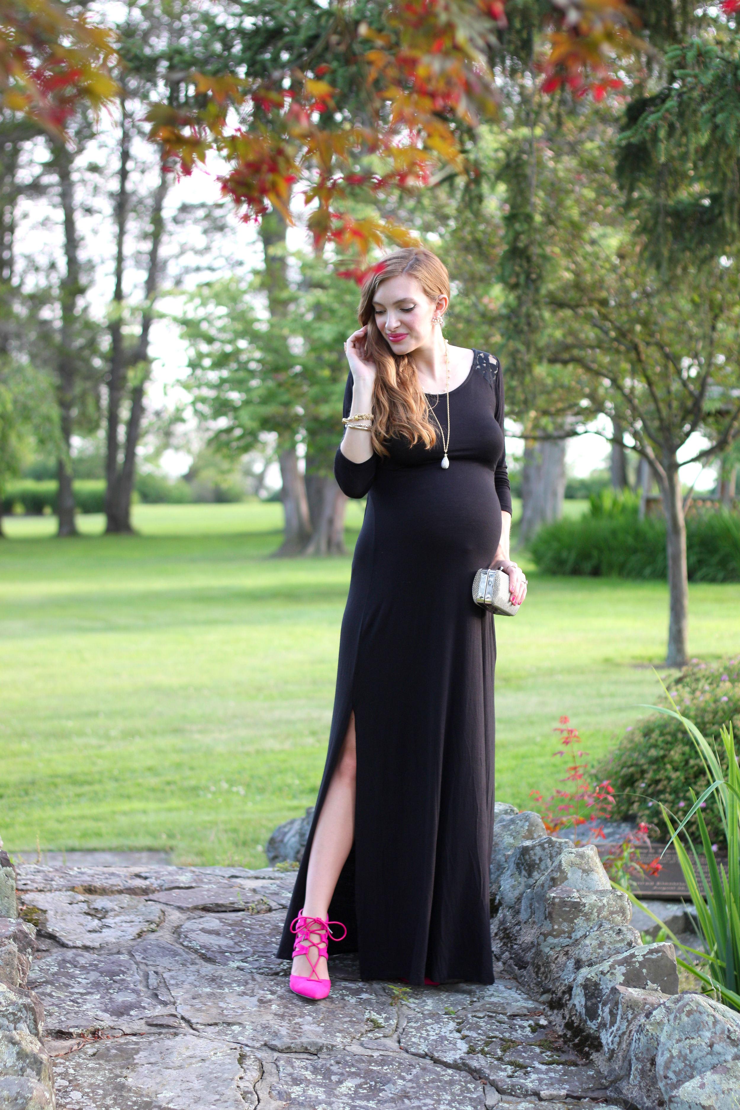 Black Lace Maxi- Enchanting Elegance