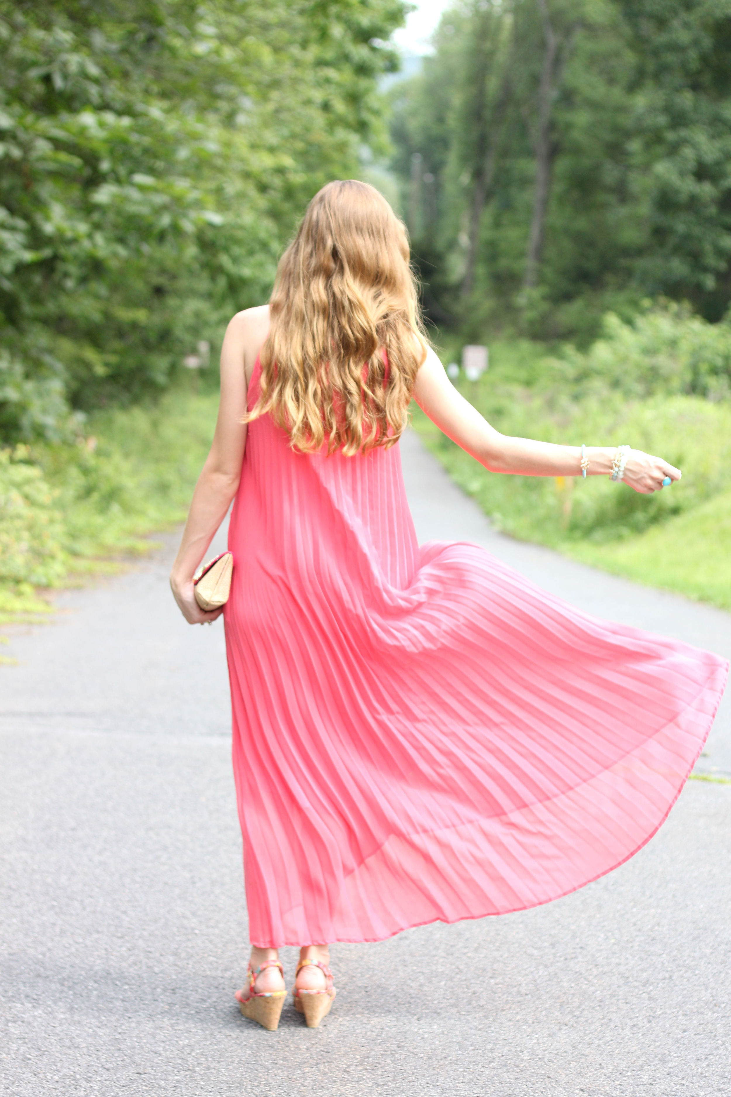 Pink Pleats- Enchanting Elegance