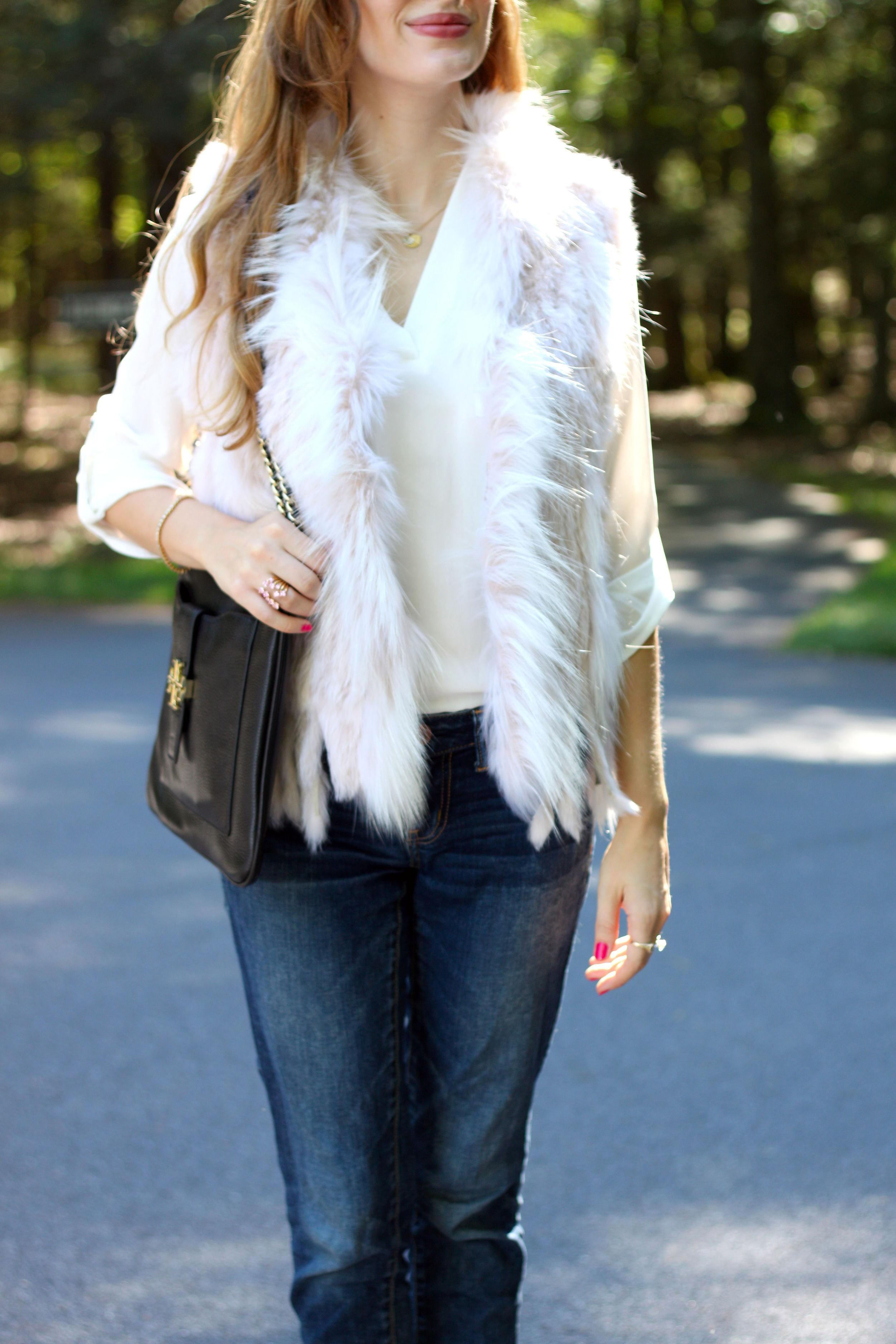 Blush Fur Vest- Enchanting Elegance